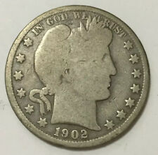 VINTAGE barber 1902-O HALF DOLLAR 50 CENT FIFTY CENTS COIN NEW ORLEANS