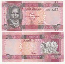 Sud South Sudan 5 pounds 2011     FDS  UNC        ref 4202