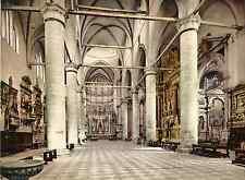 Venezia. Interno della Chiesa San Giovanni e Paolo. Photochrome original d'