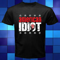 New Green Day American idiot Punk Rock Band Black T-Shirt Size S to 3XL