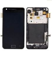 GLS DISPLAY LCD +TOUCH SCREEN per SAMSUNG GALAXY S2 GT i9100 +FRAME COVER NERO