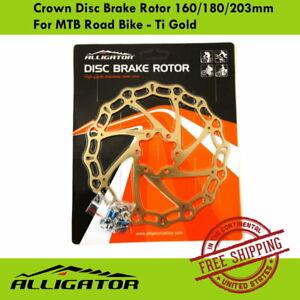 ALLIGATOR Crown Disc Brake Rotor 160/180/203mm For MTB Road Bike - Ti Gold