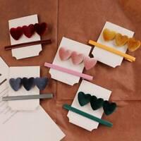 Fashion Women Love Heart Hair Clips Stick Barrette Hairpin Hair Accessories