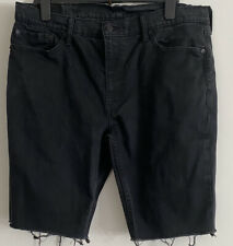 Vintage Levis 511 Mens Black Denim Shorts W38 Inch