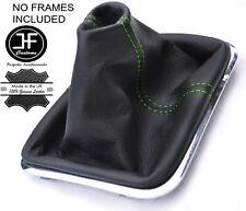 Manual De Costura Verde Cuero Polaina gear se ajusta VW Touareg 2002-2010