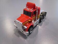 Vintage Aurora Afx Peterbilt Semi Truck Red/Orange