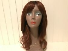 """IMAN GORGEOUS LOCKS COLLECTION """"STUNNING STRAIGHT"""" LONG WIG-COPPER RED"""
