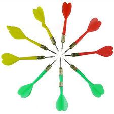 5Pcs/Set Plastic Soft Tip Brass Dart Needle Solid Dart Set Shafts with FlightsMO
