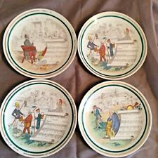 """French Opera Reproductions 4 7.25"""" Dessert Plates PV UCAGCO Vintage 1930"""