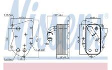 NISSENS Radiador de aceite motor 90804