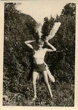 PHOTO ANCIENNE - VINTAGE SNAPSHOT - HOMME TRAVESTI ÉTRANGE DÉGUISEMENT - MAN 3