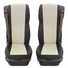 DAF 106 XF TRUCK FABRIC TAILORED SEAT COVERS BLACK ANG GREY 2 pieces