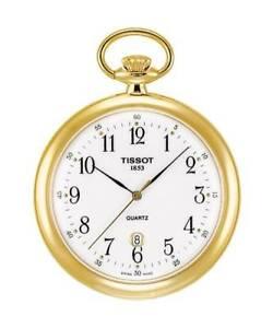 Tissot Lepine Quartz pocket watch T82.4.550.12 free shipping Worldwide