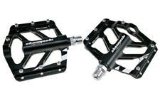 TIGER Aluminum MTB XC Road Bike Pedals Bicycle Flat Platform Pedal Black 1 pair