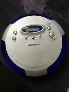 Audiophase CD 315 Portable Compact Skip Free CD Player, Silver