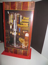 "Four Bottle Liquor Dispenser By Godinger 21""  Barware / Man Cave"