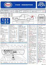 Fiche Descriptive Automobile pour Opel Manta 16.S / 19.S - E.T.A.I - Fiche n° 59