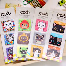 3 Pc Cat Magnetic Bookmark Fun Stationery Birthday Party Loot Bag Filler School