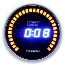 52mm Digital Motorcycle/Car AutoGauge Meter Amber Blue LCD LED Clock Time Gauge