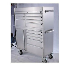 """41"""" Heavy Duty Stainless Rolling Garage Tool Box Chest Storage Cabinet 12 Drawer"""