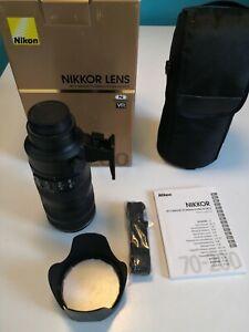 NIKON Nikkor AF-S 70-200mm f/2.8G ED VR II; OVP, Top Zustand