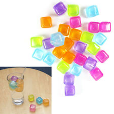 54x Reusable re-freezeable Ice Cubes Multicolour Drinks Bar Barbecue party