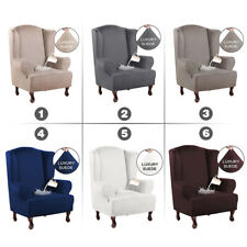 Waterproof Elastic Suede Armchair Slipcover Wing Chair Cover 1seater Sofa Cover