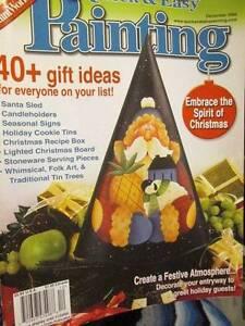 Quick & Easy Painting Magazine December 2004-Elfin Fairies/Panda/Sleigh/Snowmen/