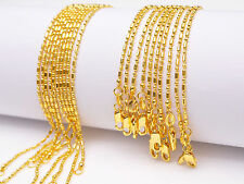 10PC Wholesale 16-30inch 18K Yellow GOLD Filled BALL CHAIN NECKLACES For Pendant