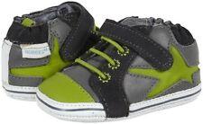 NIB ROBEEZ Mini Shoez Shoes Lucky Star Gray Lime Green 6-9m 3