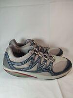 MBT Men's Rocker Sneakers EU 46/US 12-12.5 Grey Blue Leather Mesh Toning Walking