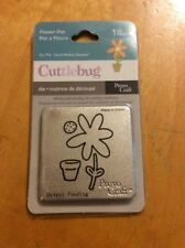 Cuttlebug  Die Cutter flower pot   fits Sizzix machine #90