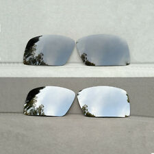 2 Pairs Black&Silver Replacement Lenses for-Oakley Gascan Sunglasses Polarized