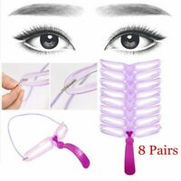 8Pairs/Kit  Eyebrow Grooming Stencil Template Women Makeup Shaping Shaper Tools