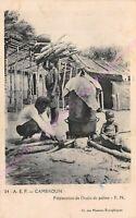 CPA AFRIQUE AFRICA CAMEROUN Préparation à l huile de palme A.E.F. 24