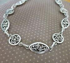 Antigue Silver Fancy Links Chain - 1 metre