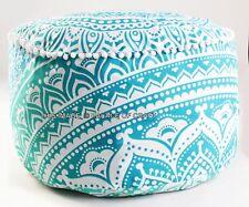 "Indian Ombre Mandala Decor Pouf Cover Ottoman Bohemian Pouffe Foot Stool 24"""