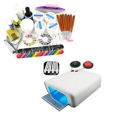 36W UV Lamp Gel Polish Curing Dryer Light Acrylic Nail Art Kit Set Powder Glue