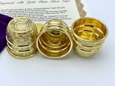 Brett Sherwood Gold Plated Solid Silver Engraved Midi Cups & Balls Magic