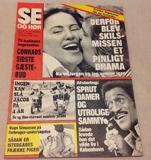 Sammy Davis Jr. Copenhagen Drinking with Girls Denmark Vtg Danish Magazine 1976