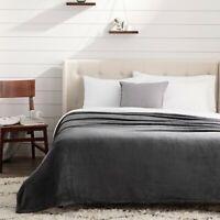 Brookside Fleece Blanket - Gray, Navy, White, Ivory - Multiple Sizes