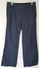 J. CREW Womens Favorite Fit Blue Wide Leg Denim Jeans Pants Size 2 EUC