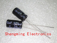 100pcs 100uF 35V Electrolytic Capacitor 35V 100UF 6x12mm
