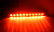 "15"" Slimline Low Profile Red LED Stop Turn Tail Lights RV Trailer Truck USA"