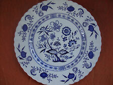 """Great Antique Classic D&G. Meakin Blue Nordic England Plate 10"""" across"""