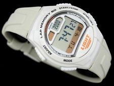 Casio W-734-7AV 60 Lap Memory Watch 5 Alarms 10 Year Battery World Time Pace New