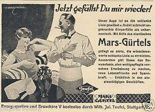 Mars Gürtel Teufel Stuttgart Reklame von 1927 Harry Maier Belt ad Advertisement