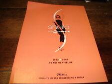 SHEILA - Publicité de magazine OLYMPIA - 40 ANS DE FIDELITE !!!!!!!!!!!!!!