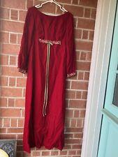 Vintage Long Red Velvet Hippie Dress 60's Lolita  Renaissance Gothic Vampire s/m