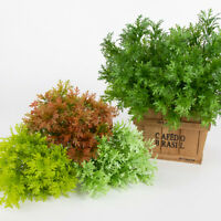 Artificial Plants Fake Leaf Foliage Bush Home Office Garden Wedding Decor